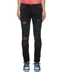 'mx1' vintage tee animation' graphic underlay distressed skinny jeans