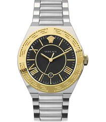 new landmark gent ip yellow gold stainless steel watch