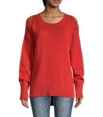 bcbgmaxazria women's cotton-blendpullover knit sweater - firewood - size s