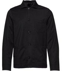m. louis gabardine jacket overshirts zwart filippa k