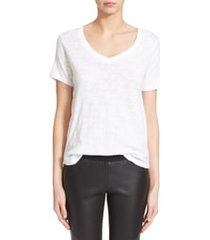 women's atm anthony thomas melillo slub v-neck tee, size x-small - white