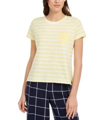 maison jules striped t-shirt, created for macy's