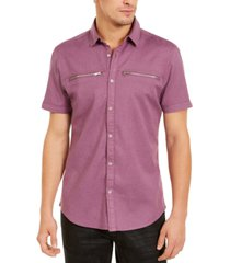 i.n.c. men's regular-fit solid shirt, created for macy's