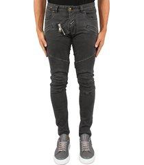 boragio biker jeans grijs