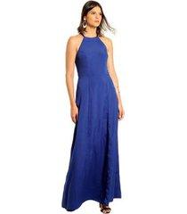 vestido longo helena estilo k feminino