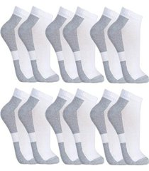 kit meias cano curto 6 pares fit