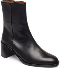 ellera vacchetta shoes boots ankle boots ankle boot - heel svart atp atelier