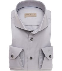 john miller overhemd tailored fit grijs