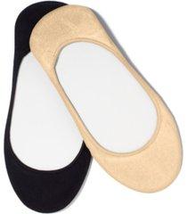 hue women's microfiber no show socks