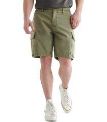 men's lucky brand stretch cargo shorts, size 32 - green
