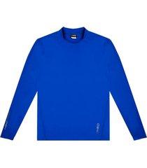 polera hombre deportiva lycra gruesa azul h2o wear