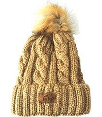 gorro de lana yacal marrón niba
