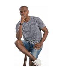 camiseta cia gota manga curta listrada masculina