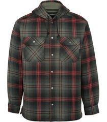 wolverine men's byron hooded shirt jac gunmetal plaid, size l