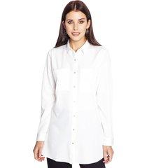 blusa manga larga liso ecru lorenzo di pontti