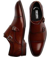 stacy adams bayne cognac double monk strap dress shoes