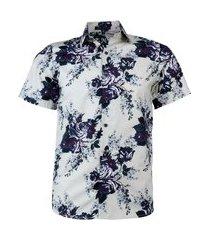 camisa amil alban cor7 de algodão estampada top praia