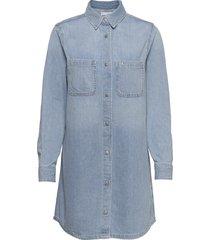 relaxed shirt dress kort klänning blå calvin klein jeans