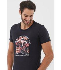 camiseta sergio k foto preta - kanui
