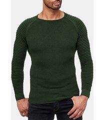 maglia a maniche lunghe da uomo a manica lunga con scollo tondo manica lunga collo