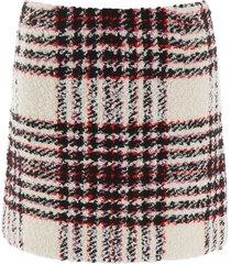 tory burch tweed mini skirt