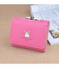 billetera mujeres- cartera de mujer monedero corto mini-rojo