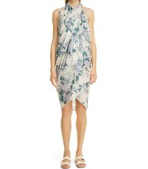 women's zimmermann cassia floral print cotton sarong, size one size - blue (nordstrom exclusive)
