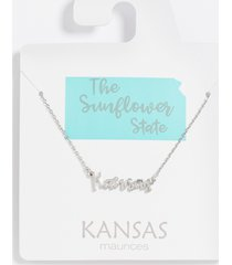 maurices womens dainty kansas necklace gray