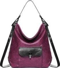 brenice borsa a tracolla tote borsa in ecopelle per donna di grande capacità