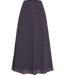 skirts light woven knälång kjol blå edc by esprit