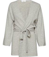 kimono gebreide trui cardigan grijs davida cashmere