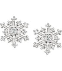 diamond snowflake earring jackets (1/6 ct. t.w.) in 14k white gold