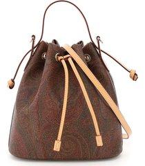 etro book classic paisley bucket bag