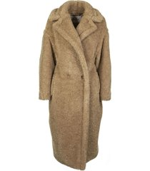 max mara camel and silk coat park gold/beige