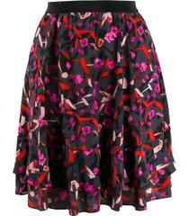 dorothee schumacher floral print skirt - grey