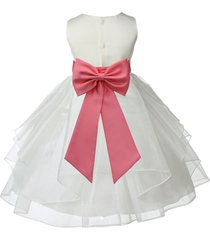 ivory flower girl dress pageant special occasion wedding bridesmaid party 4613t
