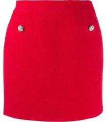 alessandra rich tweed mini skirt - red