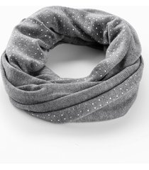 sciarpa ad anello con cachemire e strass (grigio) - bpc bonprix collection