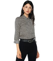 camisa beige-negro mng