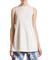sleeveless sequin blouse