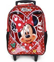 mochila escolar infantil disney escolar xeryus minnie love com rodinhas