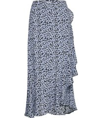 2nd limelight blossom lång kjol blå 2ndday