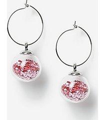*christmas shaker drop earrings - pink
