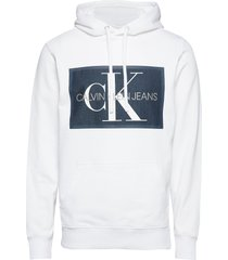 chambray monogram ho hoodie trui wit calvin klein jeans