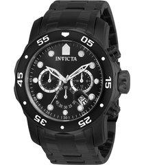 reloj invicta 0076 negro acero inoxidable