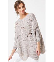 sweter ażurowy w fale