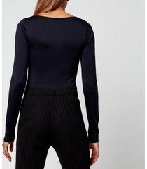 simon miller women's rohe long sleeved top - black - xs