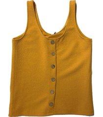 freewear singlet uni knoopjes oker geel | freewear geruit