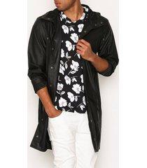 rains long jacket jackor black