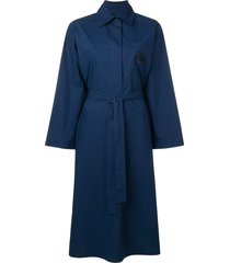 etro belted shirt dress - blue